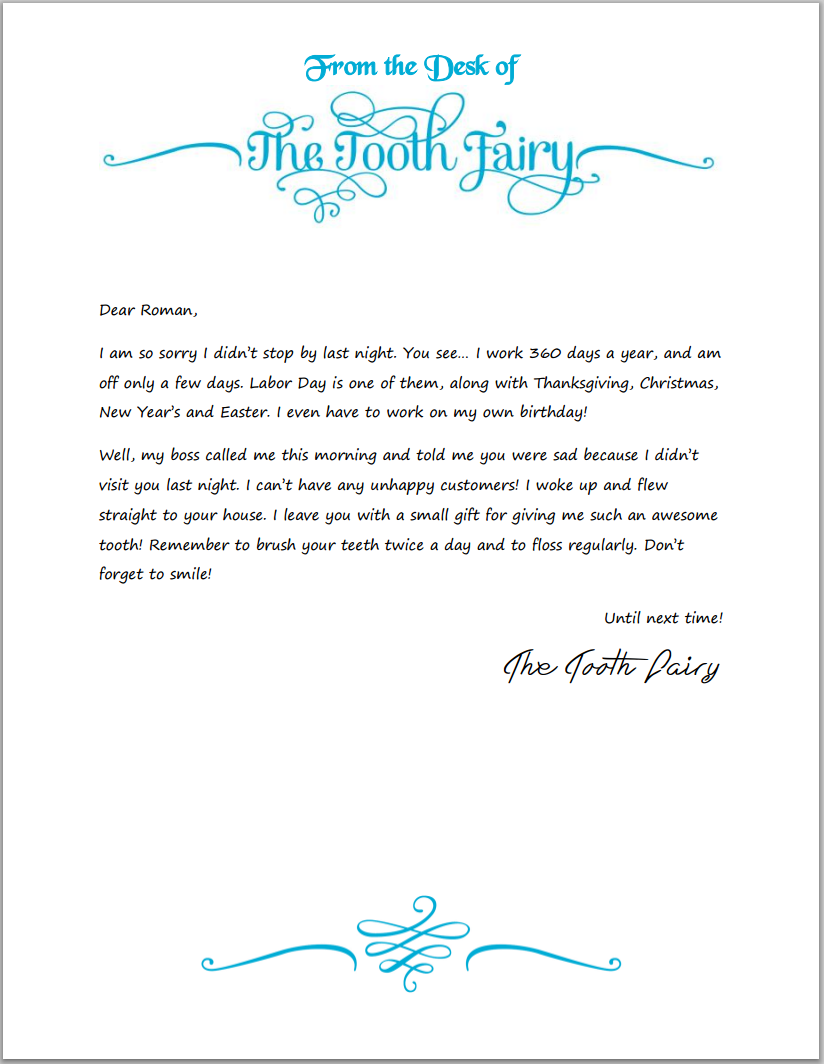 tooth fairy apology letter template  1000+ images about Shared with Mum on Pinterest | Frozen ..