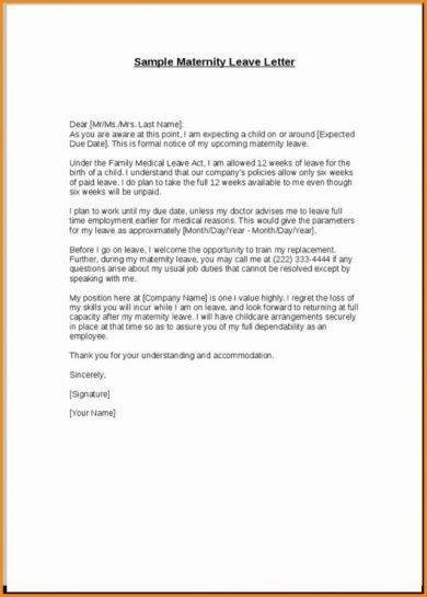 resignation letter template after maternity leave  11+ Official Medical Leave Letter Examples - PDF | Examples - resignation letter template after maternity leave