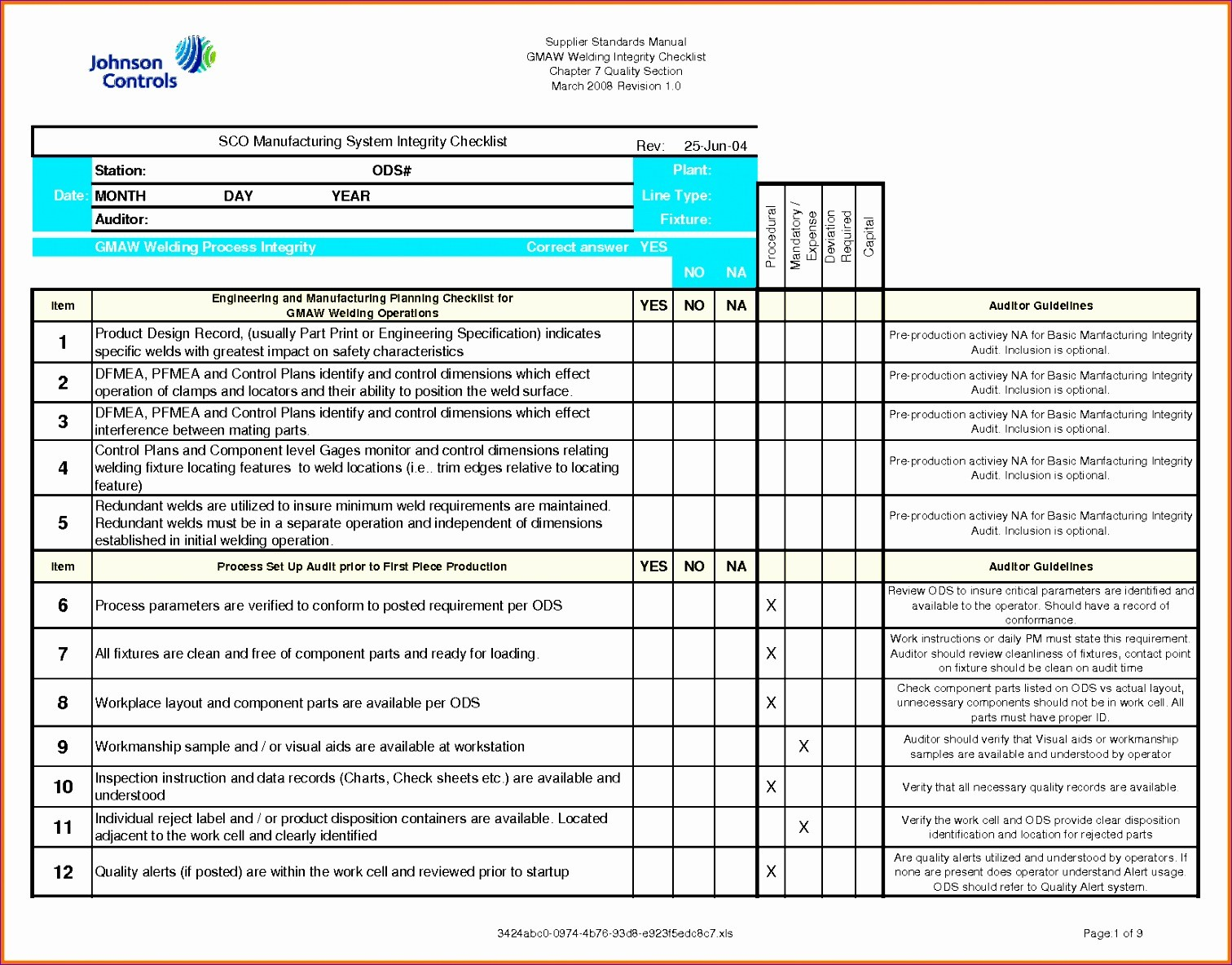 quality control checklist template excel  11 Quality Checklist Template Excel - ExcelTemplates ..