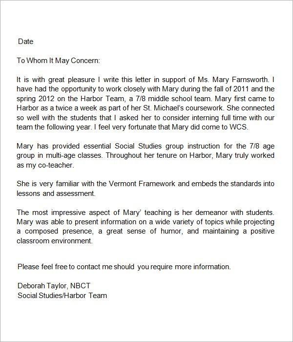 recommendation letter for teacher post  13 + Letters of Recommendation for Teacher | Sample ..