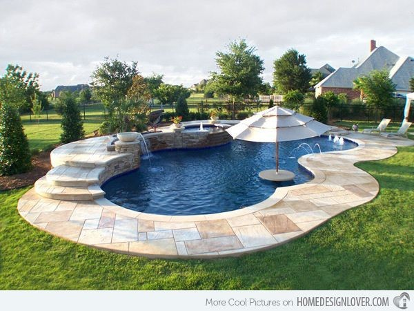 free form pool ideas  15 Remarkable Free Form Pool Designs | Small backyard ..