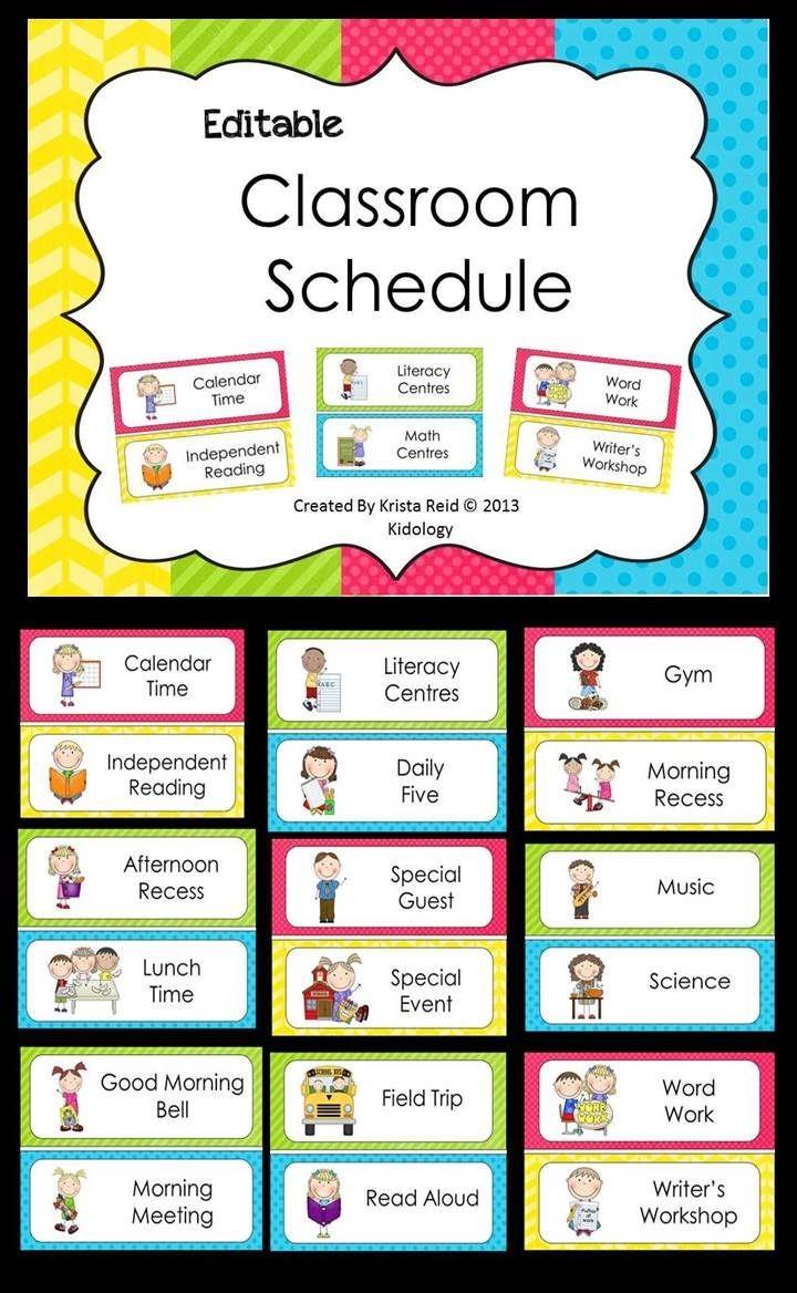 class schedule template kindergarten  158 best images about Calendar on Pinterest - class schedule template kindergarten
