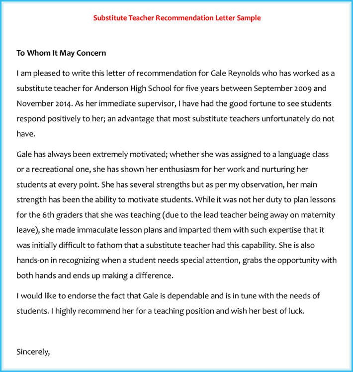 recommendation letter for best teacher  20+ Best Reference Letter Examples and Writing Tips - recommendation letter for best teacher