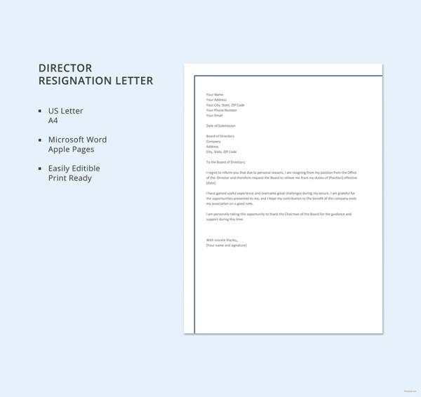 resignation letter template australia  21+ Example of Resignation Letter Templates - Free Sample ..