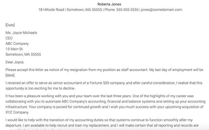 resignation letter template copy paste  21 Simple Two Weeks Notice Letter (Resignation Templates) - resignation letter template copy paste