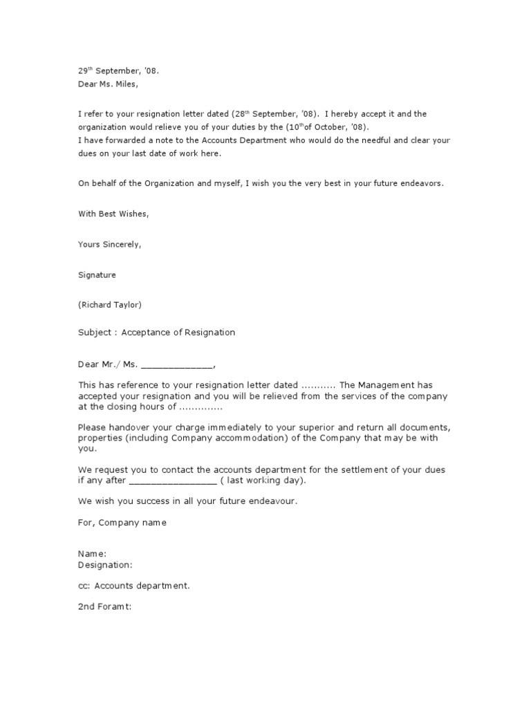 resignation letter template australia  23