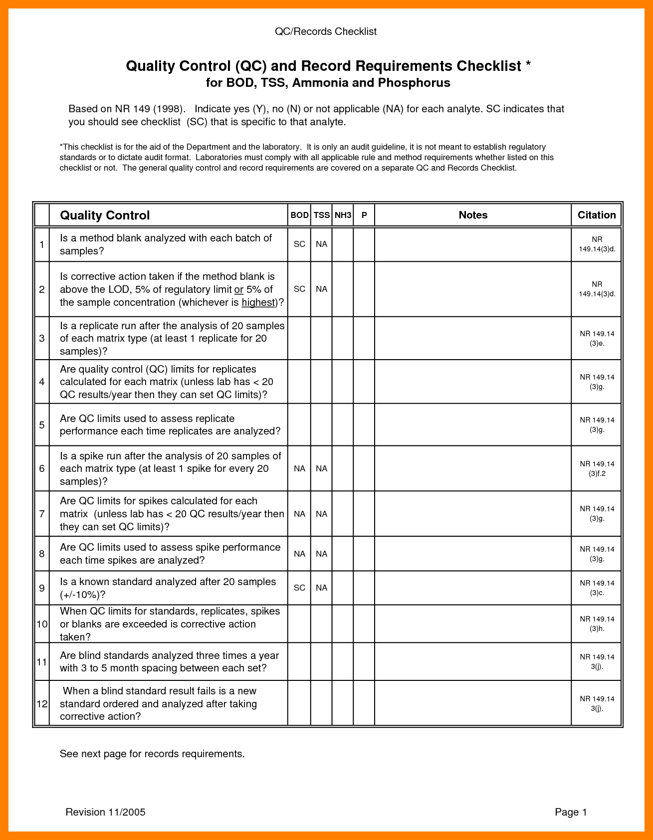 quality control checklist template  27 Images of Manufacturing Quality Testing Template ..
