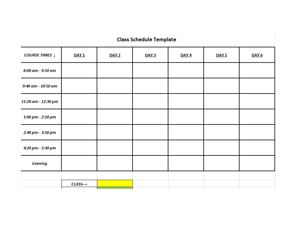 class schedule template monthly  36 College Class Schedule Templates [Weekly/Daily/Monthly] - class schedule template monthly