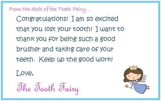 free tooth fairy letter template download  36 Cute Tooth Fairy Letters | KittyBabyLove