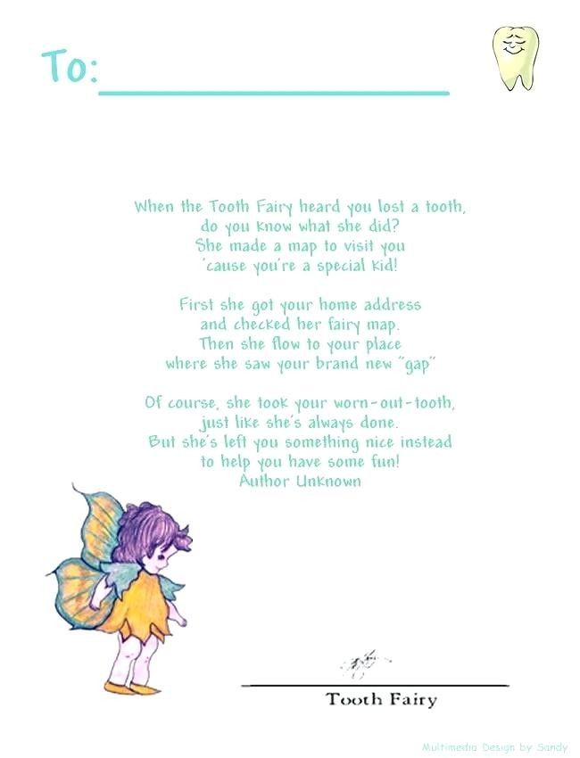 tooth fairy letter template editable  36 Cute Tooth Fairy Letters | KittyBabyLove