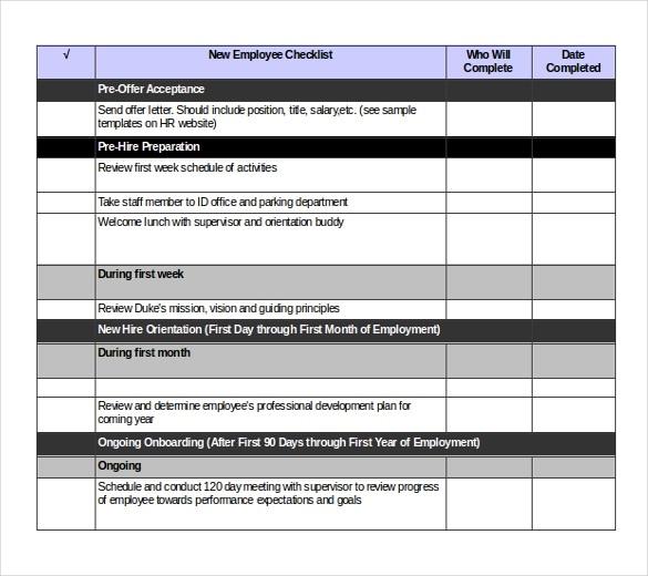 checklist template xls  38+ Checklist Templates - Word, PDF, Google Docs | Free ..