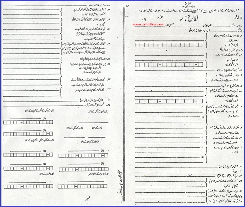 nikah nama form free download in urdu  5 Important Things You Should Check Before Signing Your ..