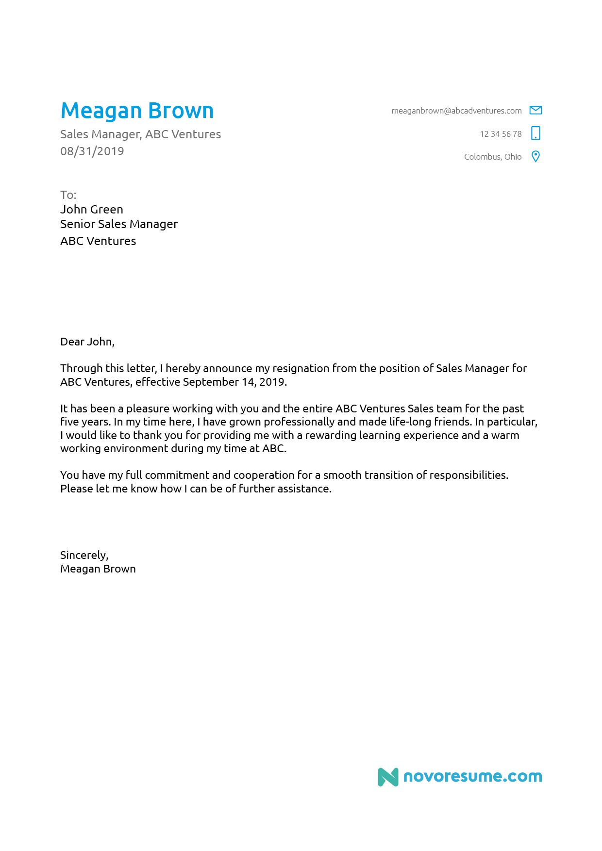 resignation letter template for board of directors  5+ Letter of Resignation Templates [Download Now] - resignation letter template for board of directors