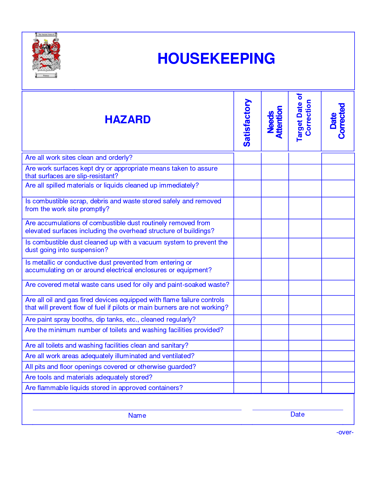 housekeeping checklist template  9 Best Images of Hotel Housekeeping Checklist Printable ..