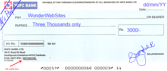 cheque deposit form of hdfc bank  Bank Cheque: Hdfc Bank Cheque Size - cheque deposit form of hdfc bank