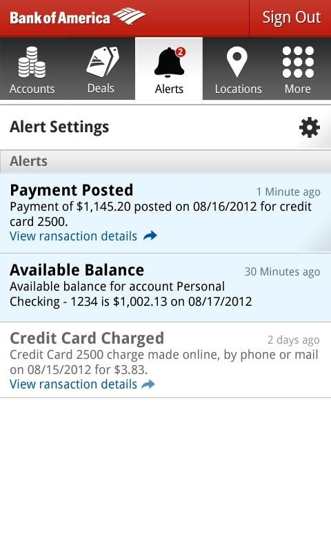 bank of america bank wire  Bank Of America Android App Adds PayPal-Style Money ..