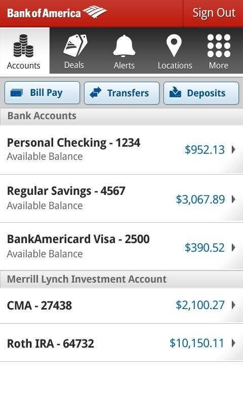 bank of america bank wire online  Bank Of America App Gets A Big Update To v5.0 With A New ..