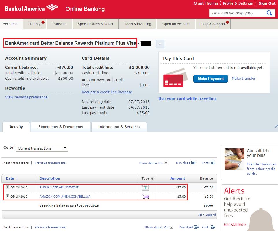 bank of america bank balance  Bank of America BankAmeriCard Better Balance Rewards Intro ..