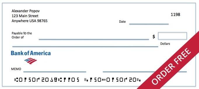 bank of america bank check  Bank of America Order Checks Online | Free Shipping 1600 ..