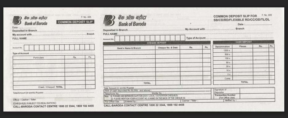 common deposit slip bank of baroda  Bank of Baroda Deposit Slip Download PDF - 2020 2021 ..
