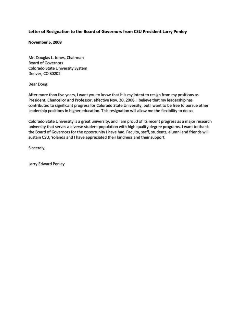resignation letter template for board of directors  Board Member Application Template - SampleTemplatess ..