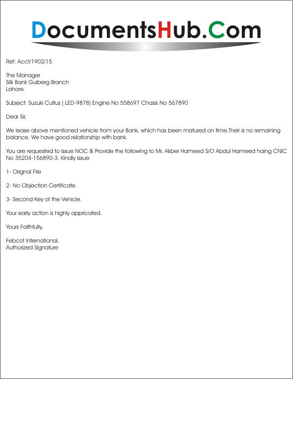 car loan clearance letter format  Car loan application letter format - drugerreport732.web ..