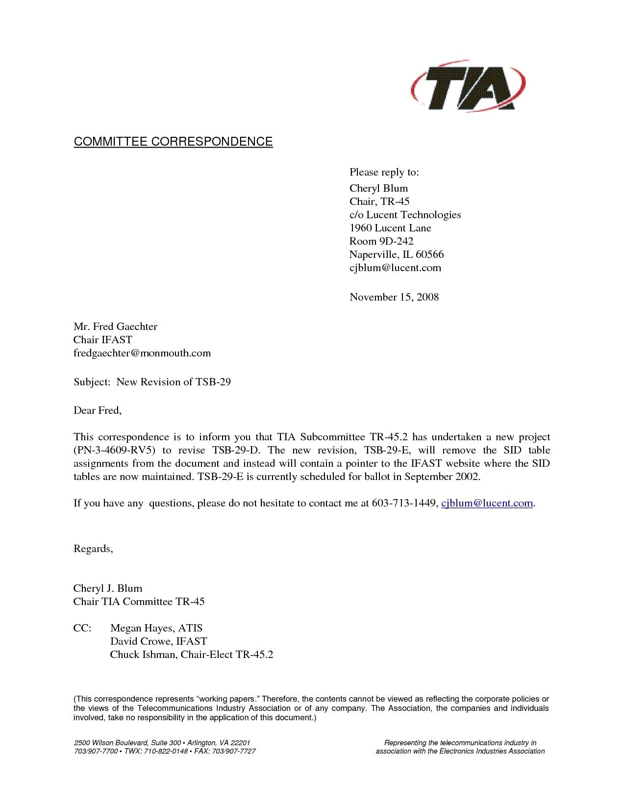 letter template with cc  Cc Business Letter Example | Letters – Free Sample Letters - letter template with cc