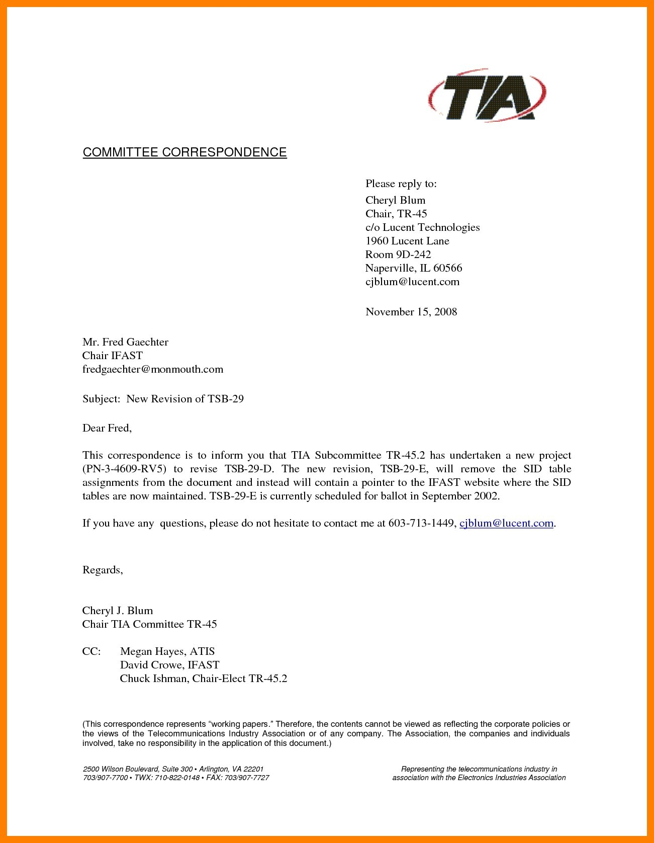 professional letter template with cc  Cc On A Letter | scrumps - professional letter template with cc