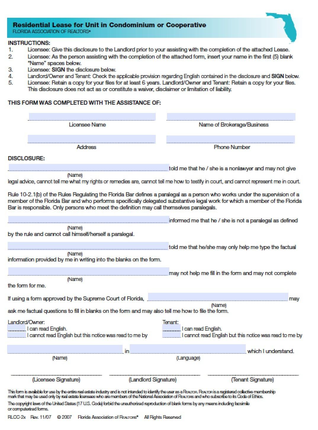free rental agreement form florida .pdf  Download Florida Rental Lease Agreement Forms and ... - free rental agreement form florida