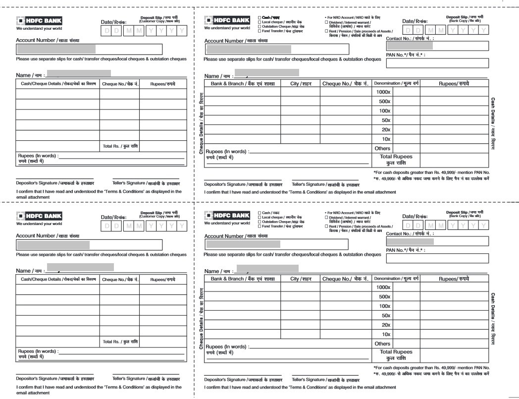 cheque deposit form of hdfc bank  Download HDFC Bank Cash and Cheque Deposit Slip! | FINANCE ..