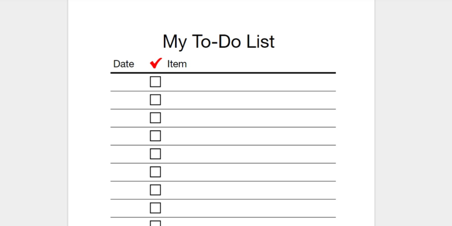 checklist template to do list  Every To-Do List Template You'll Ever Need - Business 2 ..