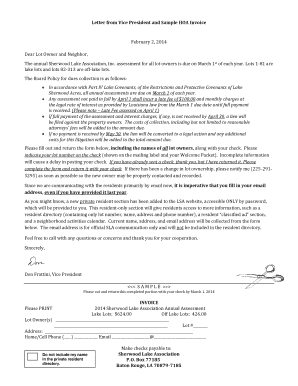 homeowners association dues invoice template  Fillable letter to customers about emailing invoices ..