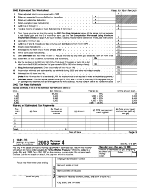 agi on form 1041  Fillable Online irs 1041-ES Estimated Income Tax for ..