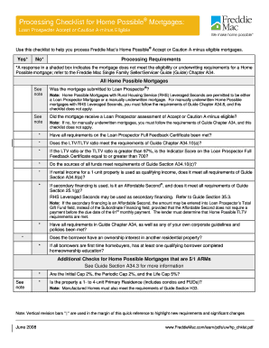 mortgage underwriting checklist template  Fillable Online mortgage processing checklist form Fax ..