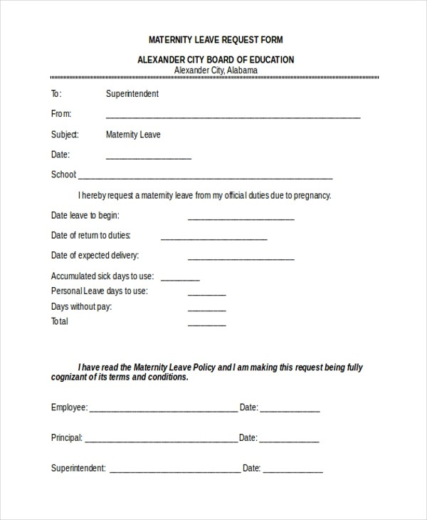 unpaid leave request form template  FREE 11+ Sample Leave Request Forms in PDF | MS Word | Excel - unpaid leave request form template