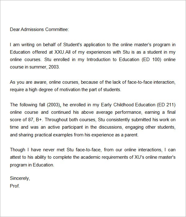 recommendation letter for master teacher  FREE 45+ Sample Letters of Recommendation for Graduate ..