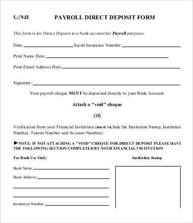 chase bank verification of deposit form  Generic Direct Deposit Form | charlotte clergy coalition - chase bank verification of deposit form