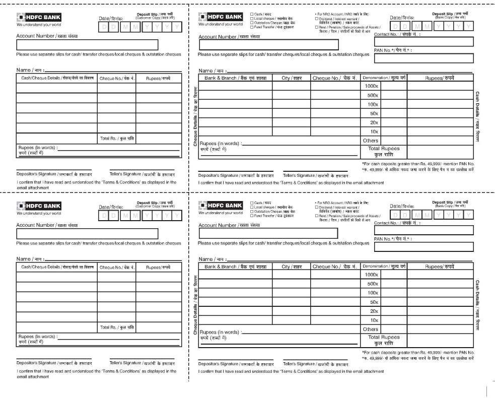 cheque deposit form of hdfc bank  HDFC Bank Cheque Deposit - 2018 2019 MBA - cheque deposit form of hdfc bank