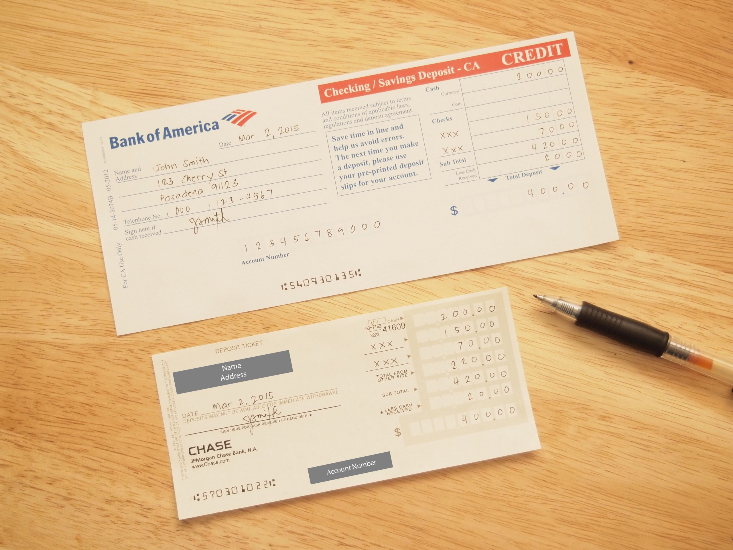 deposit slip bank check  How to Fill Out a Checking Deposit Slip: 12 Steps (with ..