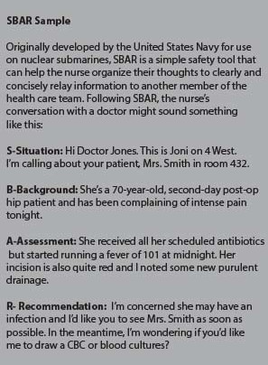 sbar examples nurse to doctor  How to Talk to Doctors - Daily Nurse - sbar examples nurse to doctor