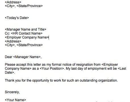 classy resignation letter template  How to write a classy resignation letter | Squawkfox - classy resignation letter template