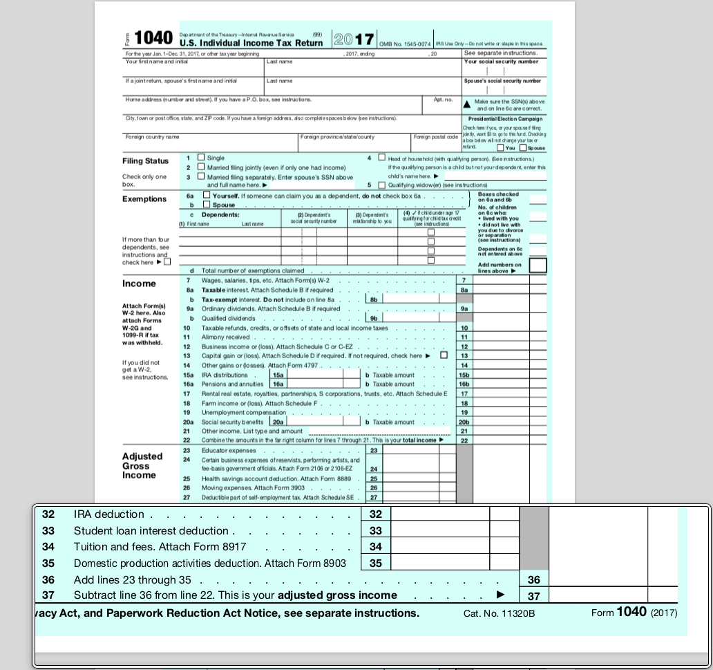 agi on form 1040  I am trying to find my agi number.. please help - TurboTax ..