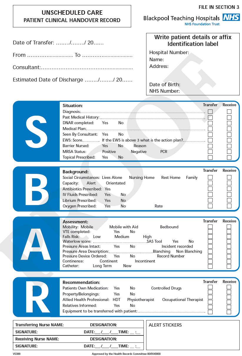 sbar template for nurses  Image result for sbar handover | Nursing Life | Sbar, Sbar ..