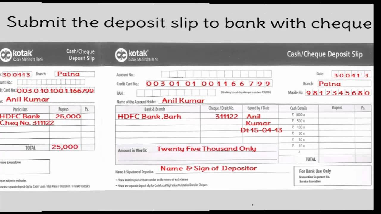 term deposit form of kotak mahindra bank  IN-How to fill Credit Card Payment of Kotak Mahindra Bank ..
