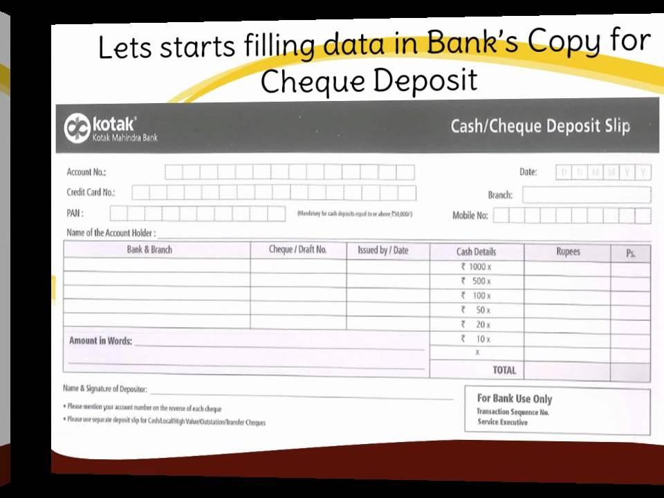 term deposit form of kotak mahindra bank  IN-How to fill Kotak Mahindra Bank Deposit slip - YouTube - term deposit form of kotak mahindra bank