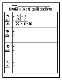 expanded form subtraction 2nd grade worksheets  Introduction to Double Digit Addition & Subtraction with ..
