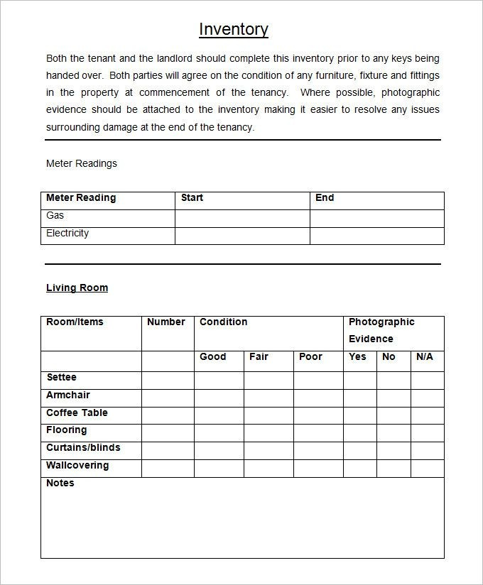 property handover checklist template  Inventory Templates for Landlords (With images) | Being a ..