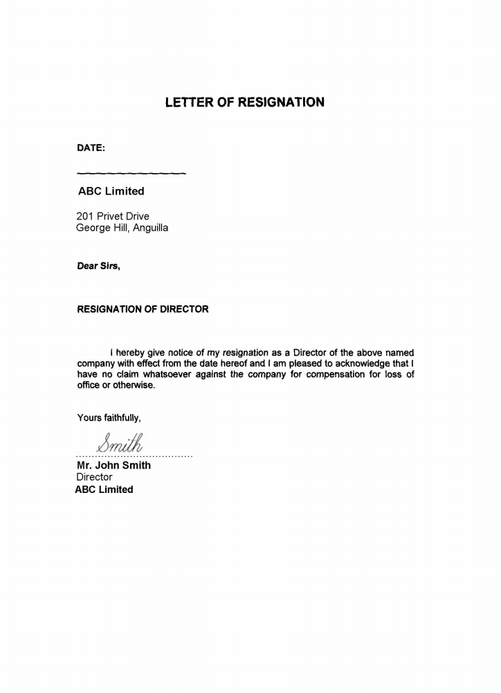 resignation letter template ireland  Ireland | Offshore zones | Offshore and International Law ..