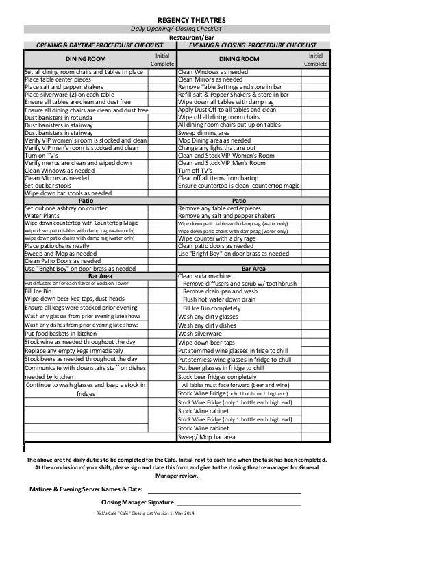 kitchen cleaning checklist template  kitchen cleaning checklist template ..