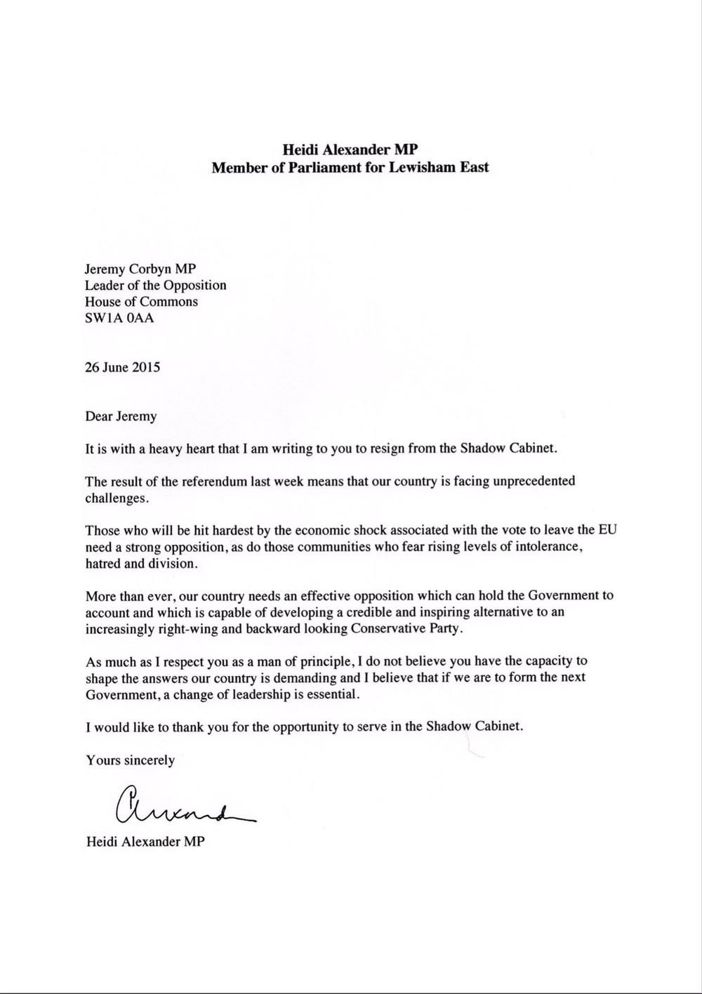 resignation letter template belgium  Labour MP Shadow Cabinet Resignation Letters: Ranked! - VICE - resignation letter template belgium